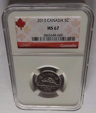 2013 Canada Ngc Ms67 Canadian Nickel Registry Quality photo