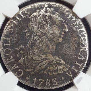 1783 Mo Ff Mexico El Cazador Shipwreck Silver 8 Reales Ngc photo