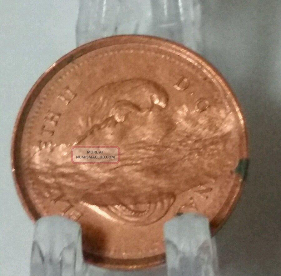 2006 Canada Penny Error Struck Through Grease - One Cent - Rare