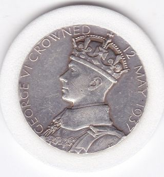 1937 Coronation Medal - Silver (92.  5) 32mm photo