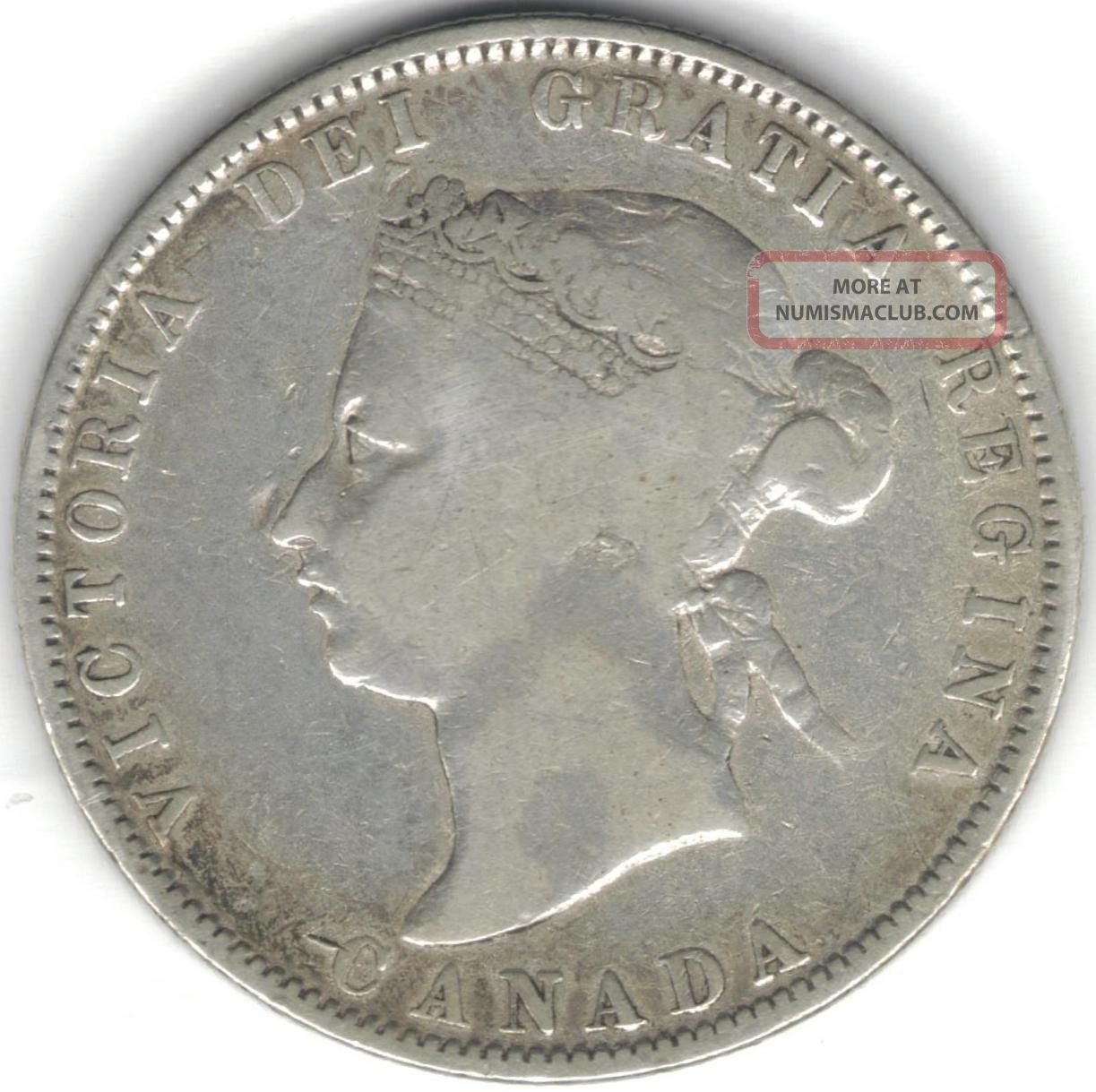 Tmm 1871h Silver Victoria Canada 25c Vg Coins: Canada photo