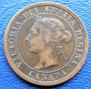 1888 Canada Large Cent Km 7 Queen Victoria Circulated Coin K photo