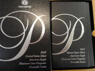 2010 W $100 Us 1 Oz Proof Platinum American Eagle Preamble Series 2 photo