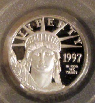 1997 - W 1/4 Oz $25 Proof Platinum American Eagle Pr - 69 Dcam Pcgs photo