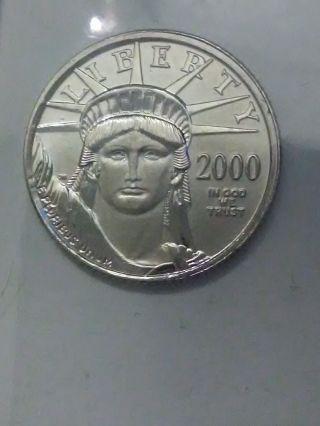 2000 1/10 Oz Platinum American Eagle Coin - Brilliant Uncirculated photo