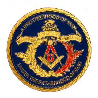 Freemasonry,  Masonic Emblem Symbol,  Compasses,  24k Gold Plated Coin Token photo