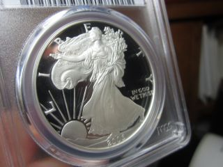 Unreal Looking Proof Silver Eagle Pcgs 2006 - W Proof - 69dcam It Looks Perfect photo