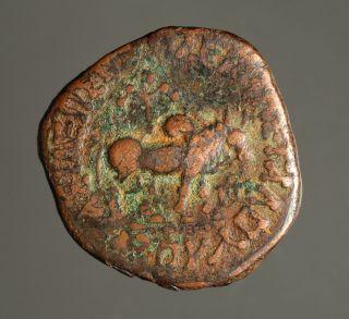 Ig13 - 15 Indo - Scythians,  Azes.  Circa 58 - 12 Bc.  Copper Full Unit,  Senior 102.  100 photo