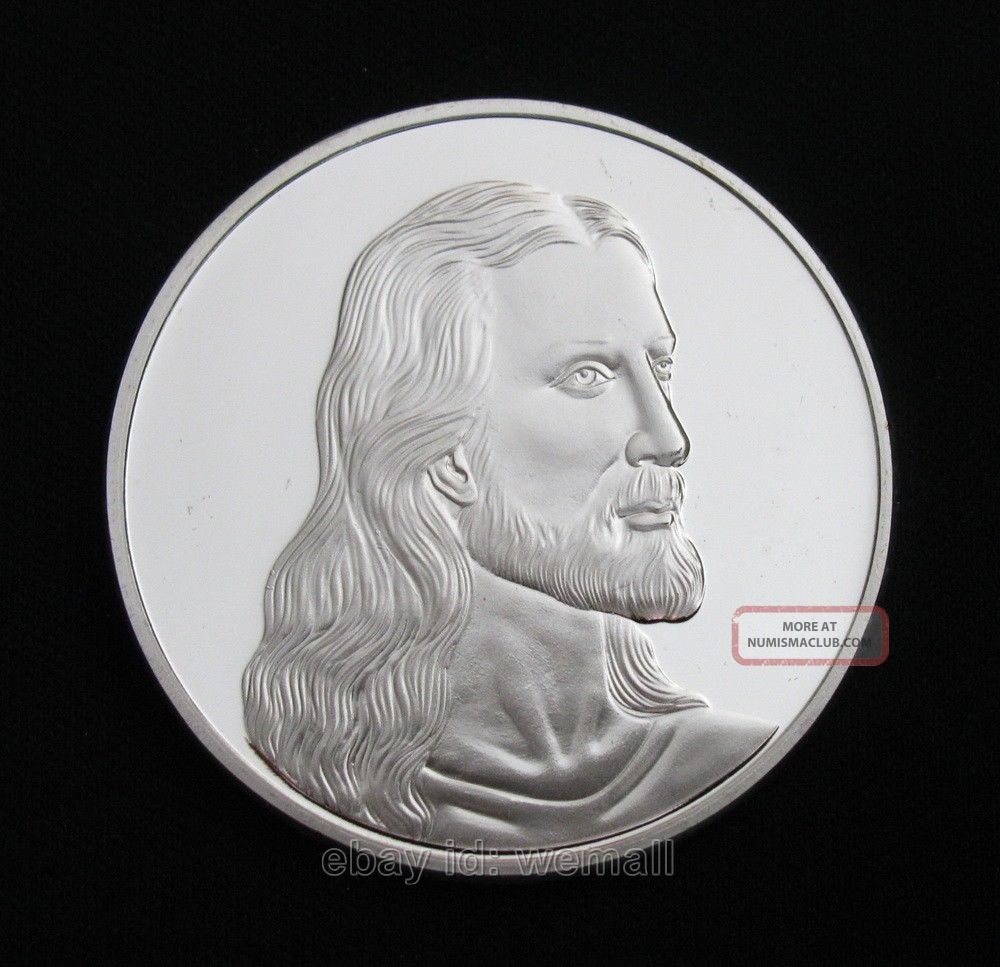 Jesus Christ,  Last Supper,  Christian Prayer,  Silver Commemorative Coin Token Coins: World photo