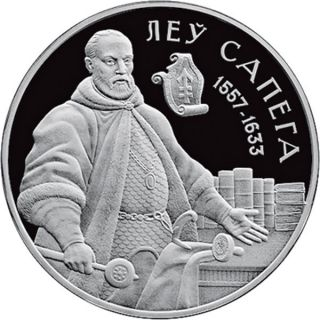 Belarus 2010 20 Rubles Lew Sapieha Proof Silver Coin photo