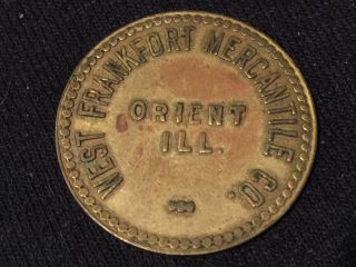 West Frankfort Mercantile Orient Il Ill Coin Token Scrip Trade G/f Htf $1.  00 photo