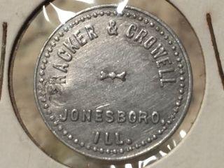 Maverick Hacker Crowell Pool Hall Jonesboro Il Ill Coin Token Scrip Trade 2 1/2c photo