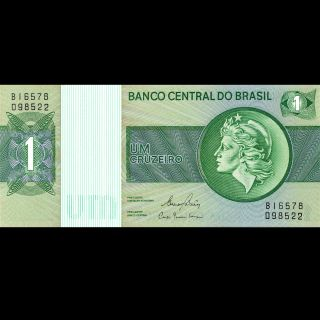 Banco Central De Brasil Brazil 1 Cruzeiro P - 191ac Unc 1980 photo