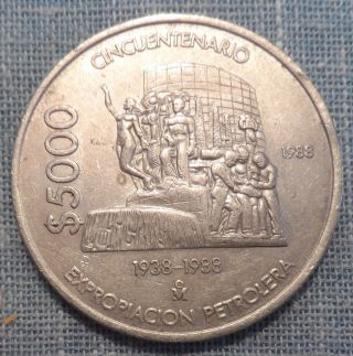 Mexico 1988 5000 Pesos Foreign Coin Km 531 Rjs - A photo