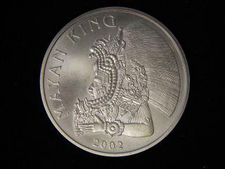 2002 Belize 1oz Silver Mayan King Dollar - Uncirculated photo