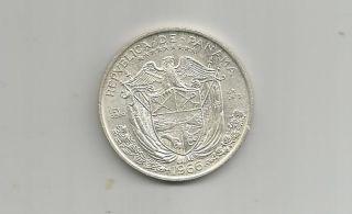 Ncoffin Republica De Panama 1966 Balboa Low Mintage Proof.  900 Fine Silver Coin photo