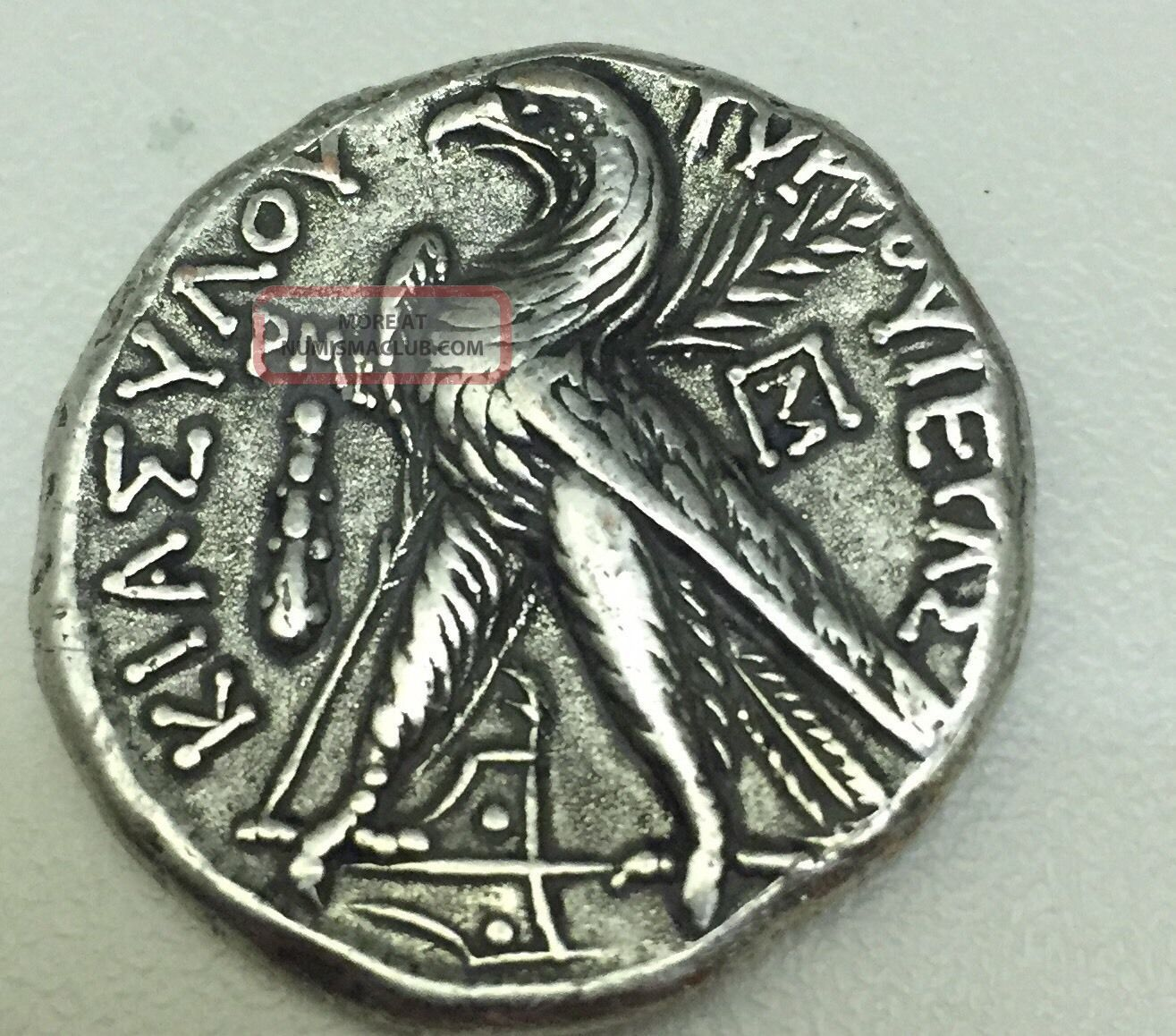 Ancient Greek Roman Coin Phoenicia Sidon Tetradrachm 40 Ad Old Coin Rome Coins: Ancient photo