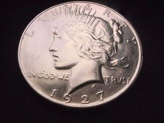 1927 - D Peace Dollar Great Dollar Coin 22p photo