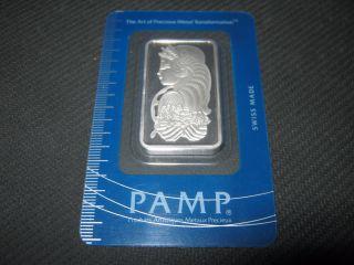 1 Ounce Pamp Platinum Bar In Assay Case photo