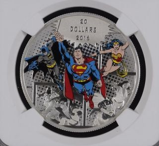Canada $20 2016 Superman The Trinity Ngc Pf - 70 1 Of 5 Top Pop All Pckg Inc photo