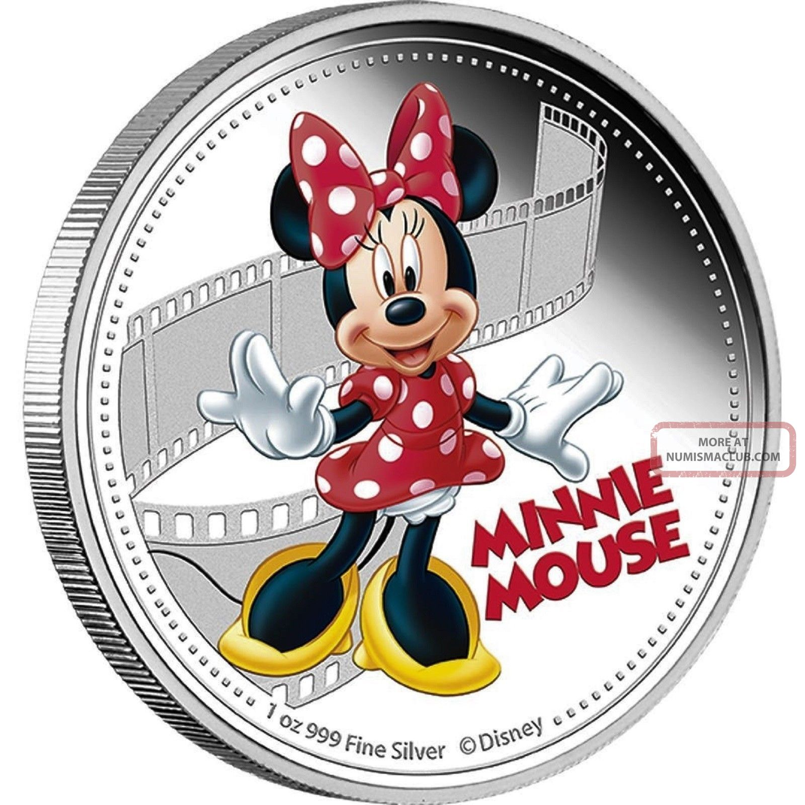 Minnie Mouse 2014 - $2 D Isney Mickey & Friends 1 Oz Silver Proof Coin Coins: World photo