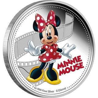 Minnie Mouse 2014 - $2 D Isney Mickey & Friends 1 Oz Silver Proof Coin photo