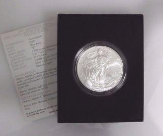 2007 - W (burnished).  999 Fine Silver American Eagle (&) photo