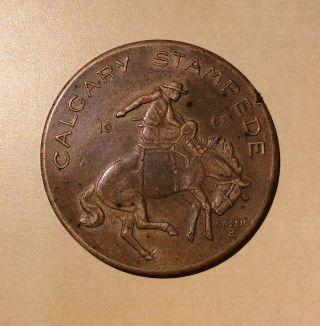 Canada Alberta Calgary Stampede 1963 Cowboy Souvenir Dollar photo