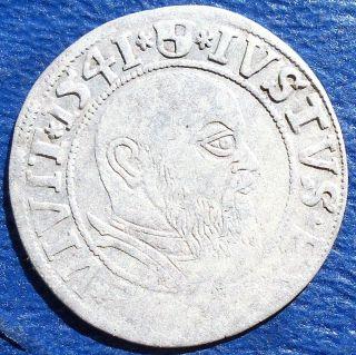 Rare Silver 1541 Germany Prussia Groschen Albrecht Brandenburg Msb132 photo
