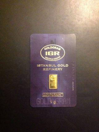 1 Gram Gold Bar photo