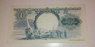 1 - 3 - 1959 Malaya & British Borneo $1.  00 Banknote,  P - 8a Crisp Xf/au photo