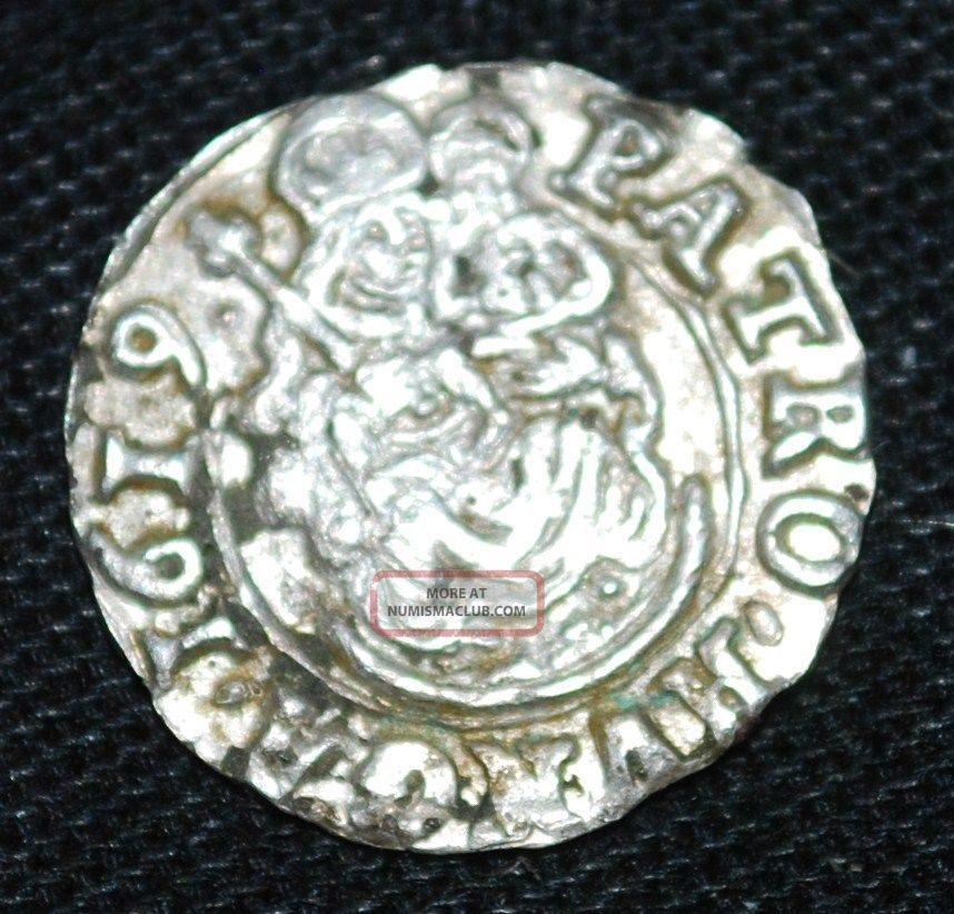 1619 Hungary Silver Denar - 14mm/0.  47g - Madonna&child - Mary&christ - Tvc Europe photo