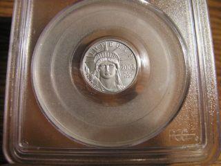 2008 - W $10 Burnished Platinum Eagle