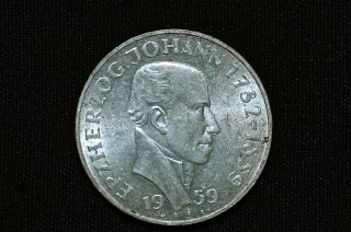 Austria 25 Shilling Silver Coin,  1959 photo