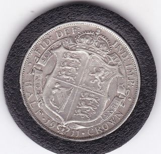 1911 King George V Half Crown (2/6d) - Sterling Silver Coin photo