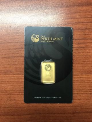5 Gram Gold Bar - Perth - 99.  99 Fine In Assay photo