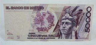 1989 El Banco De Mexico 50,  000 Pesos Serie Fa photo
