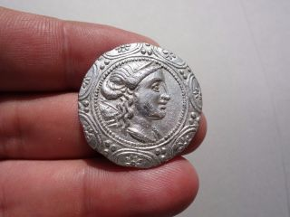 Ancient Silver Macedonian Tetradrachm - Amphipolis - 158 B.  C. photo