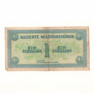 Austria / Osterreich 1944 Series Allied Military Currency 1 - Shilling Banknote photo