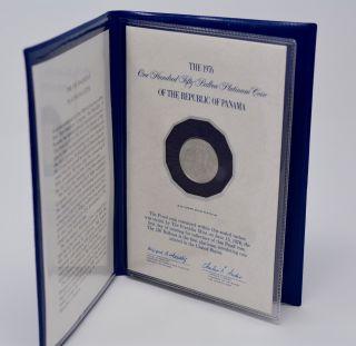 1976 Republic Of Panama $150 Proof Platinum Commemorative Coin - photo