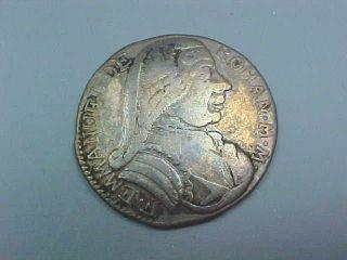 1776 Silver 1 Scudo Coin Grand Master De Rohan Knights Of Malta Order Of St John photo
