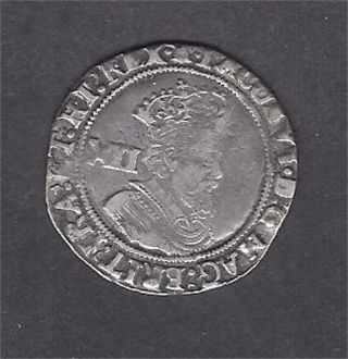 England James 1 Shilling 2nd Coinage 5th Bust Mm Bell photo