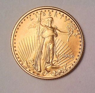 2006 American Gold Eagle Uncirculated 1/10 - Oz photo