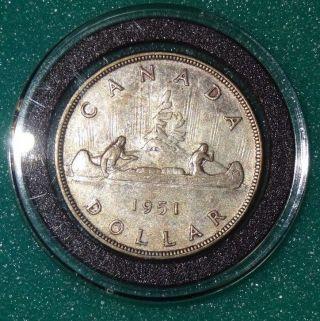 1951 Canadian Silver Dollar Rare - Canada Silver Coin photo