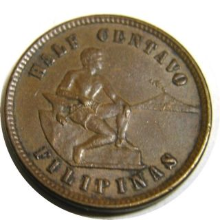 Elf Philippines Usa 1/2 Centavo 1903 Philadelphia photo