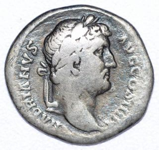 Authentic Hadrian Roman Coin,  Ar Silver Denarius,  Rome Rv.  Vota Publica - A765 photo