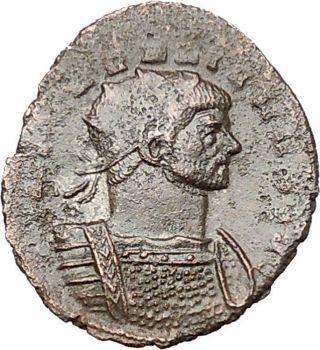 Aurelian 274ad Authentic Ancient Roman Coin Fortuna Luck Cult I40802 photo