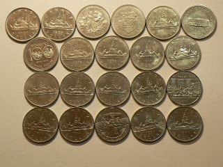 Canada,  Complete Series Of 21 (1968 – 1986) Uncirculated Dollars 6136 photo