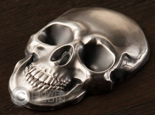 Skull No 1 Shape 1 Oz Silver Coin 5$ Palau 2016 photo