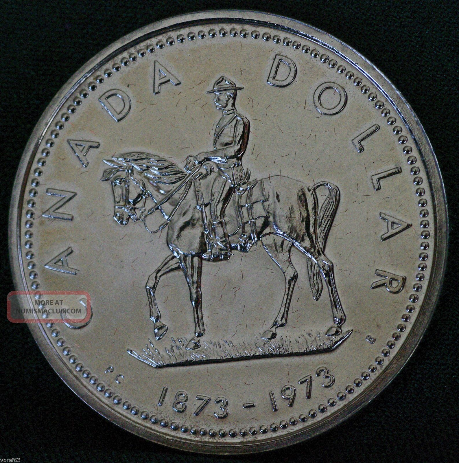 1973 Canada Rcmp Centennial Commemorative Silver Dollar Coins: Canada photo